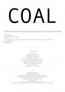Invitation au prix Coal 2010.