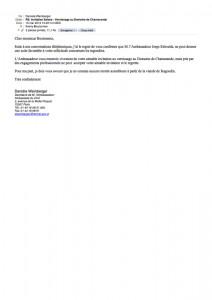 Réponse de l'ambassade du Chili