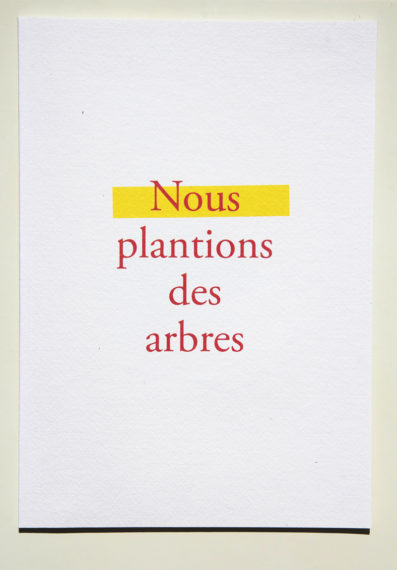 Photographie Thierry Boutonnier  Édition Sculpture sociale Lauréat Prix COAL Art et Environnement Soutenu par la Fondation de France  2010-2015 - ZAC de Mermoz, Lyon