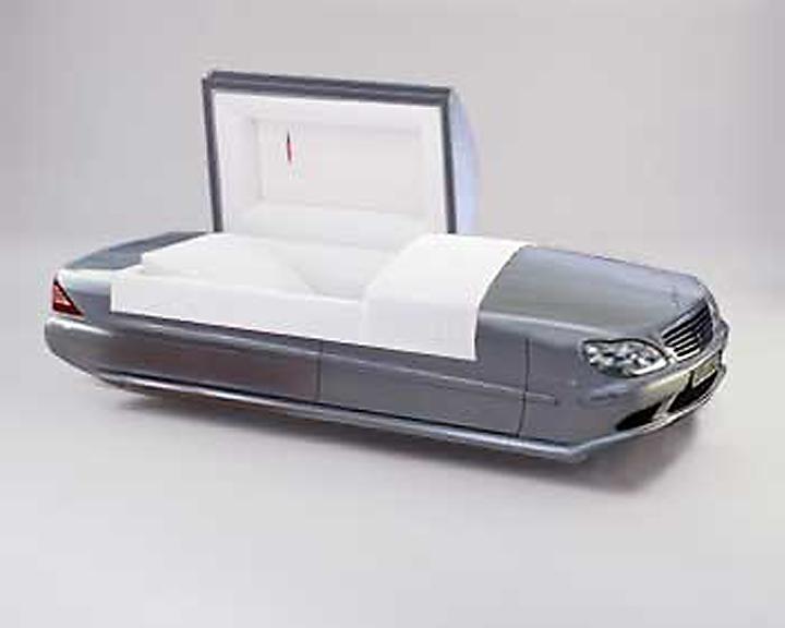 Collage de prototype d'objet funéraire.